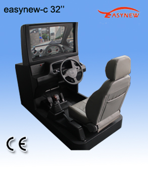 生产/供应汽车教学器材:32寸新款2013主被动式汽车驾驶模拟器