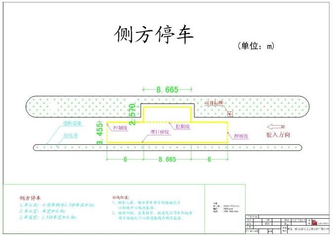 2013年新的考试项目第二项:侧方位停车