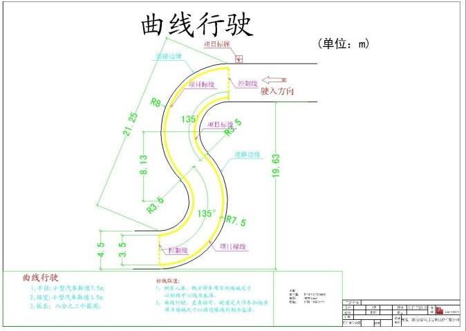 2013新的考试项目 曲线行驶