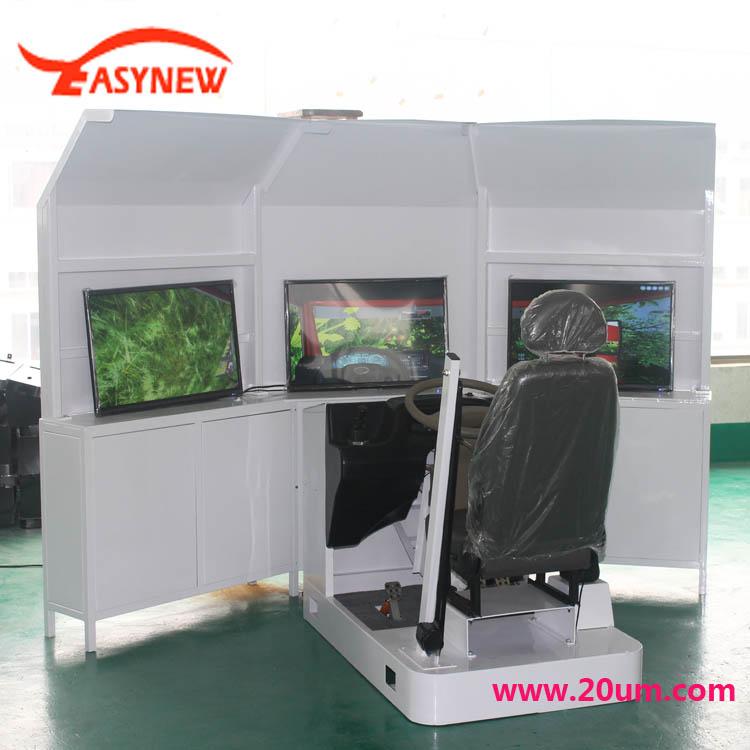 三屏汽车驾驶模拟器 出口阿根廷汽车驾驶模拟器 颜色可以订制